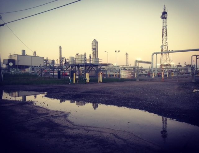 Oil refinery in Venice, Louisiana (Lynn Oldshue)