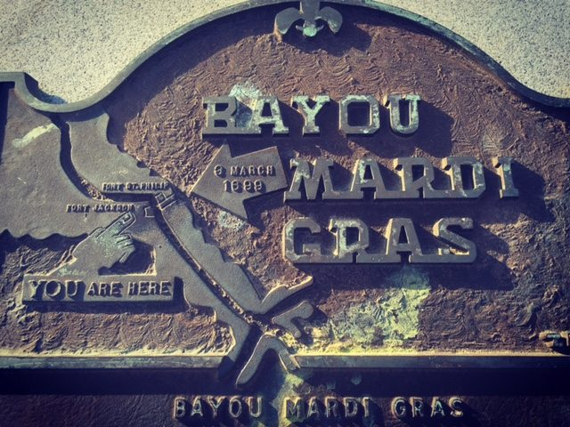 Bayou Mardi Gras where on Fat Tuesday, March 3, 1699, D'Iberville and his companions camped on the French pre-Lenten holiday and gave the bayou its name.