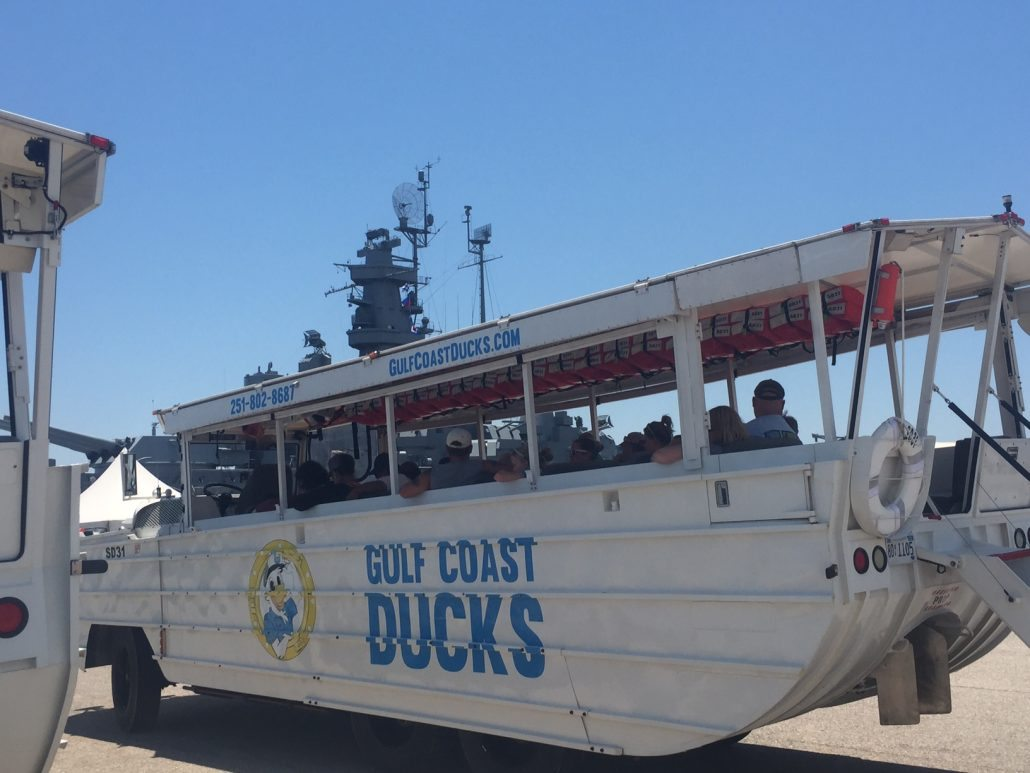 Gulf Coast Ducks is located at USS Alabama Memorial Park and they launch next to the battleship.